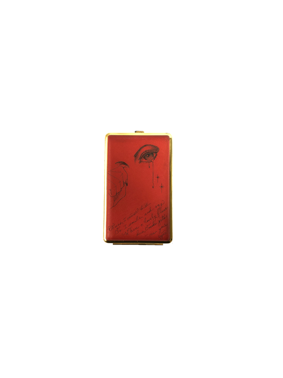 Image of Smoke Gets In Your Eyes Vintage Cigarette Case