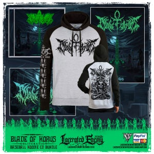 Image of BLADE OF HORUS - Fall Of The Ancients - Baseball Hoodie BUNDLE