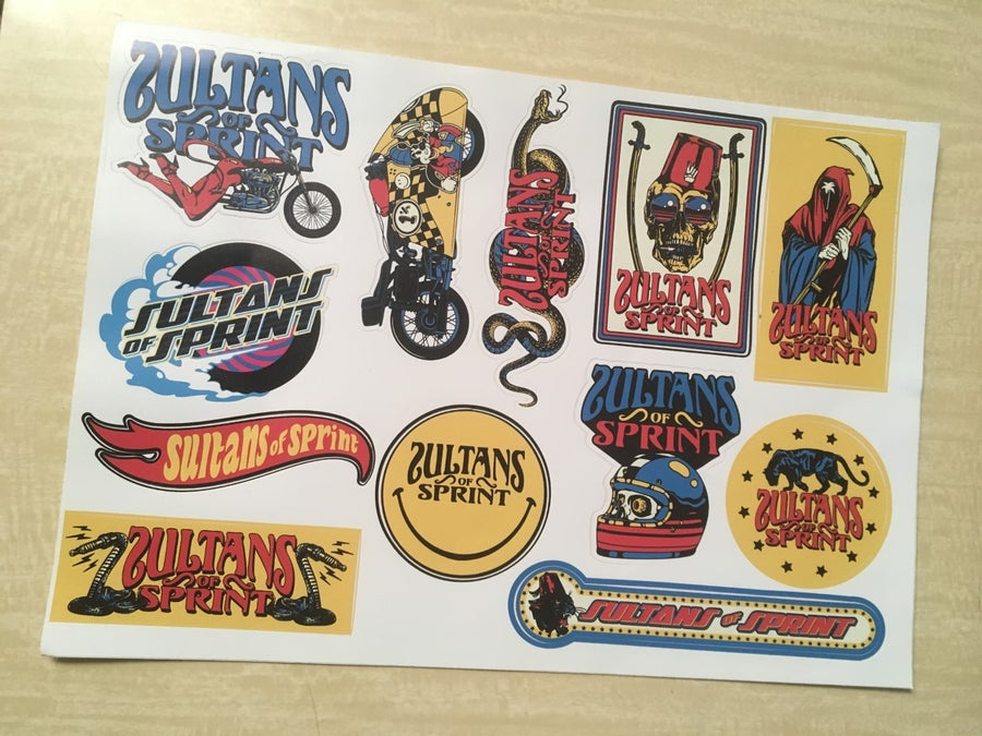 Image of Sultans of Sprint stickers set