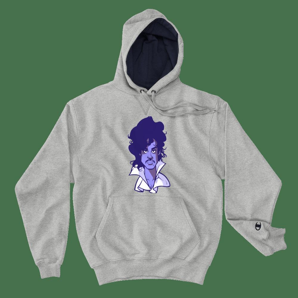 Image of Purple Reign Champion Hoodie Edition (light steel/purple face)