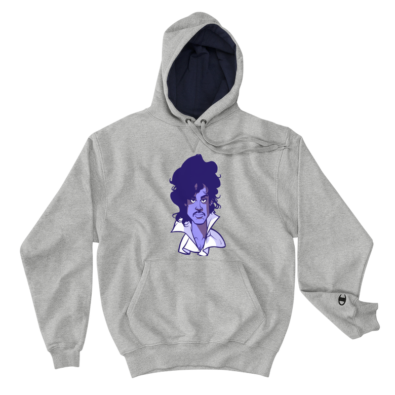 Image of Purple Reign Champion Hoodie Edition (light steel/purple face)