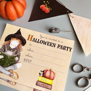 """Image of """"Halloween party"""" invitation + bunting digital download"""
