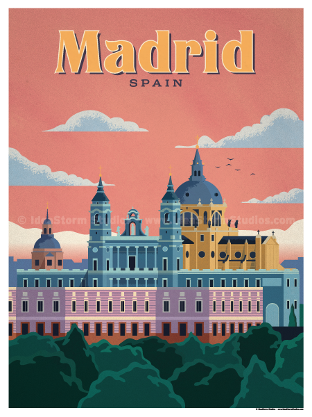 Image of Madrid Modern Poster