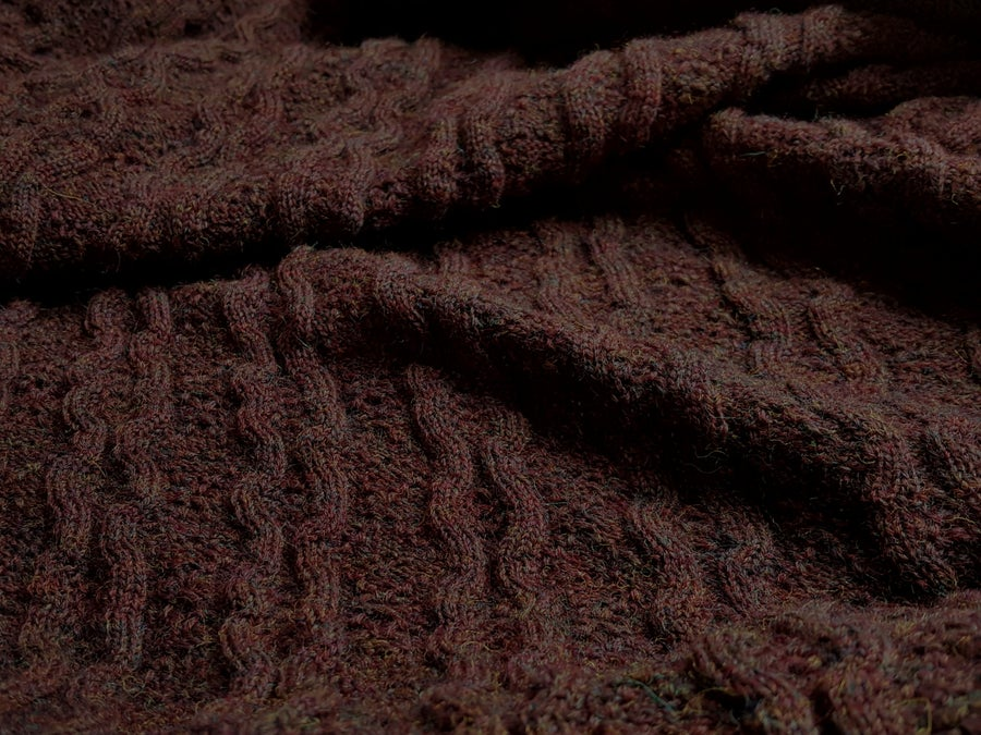 Image of Wool Rib and Diamond Tuck - Providence - Deep Burgundy (by the half yard)