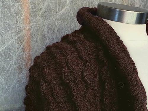 Image of Wool Rib and Diamond Tuck - Providence - Deep Burgundy (by the half yard)