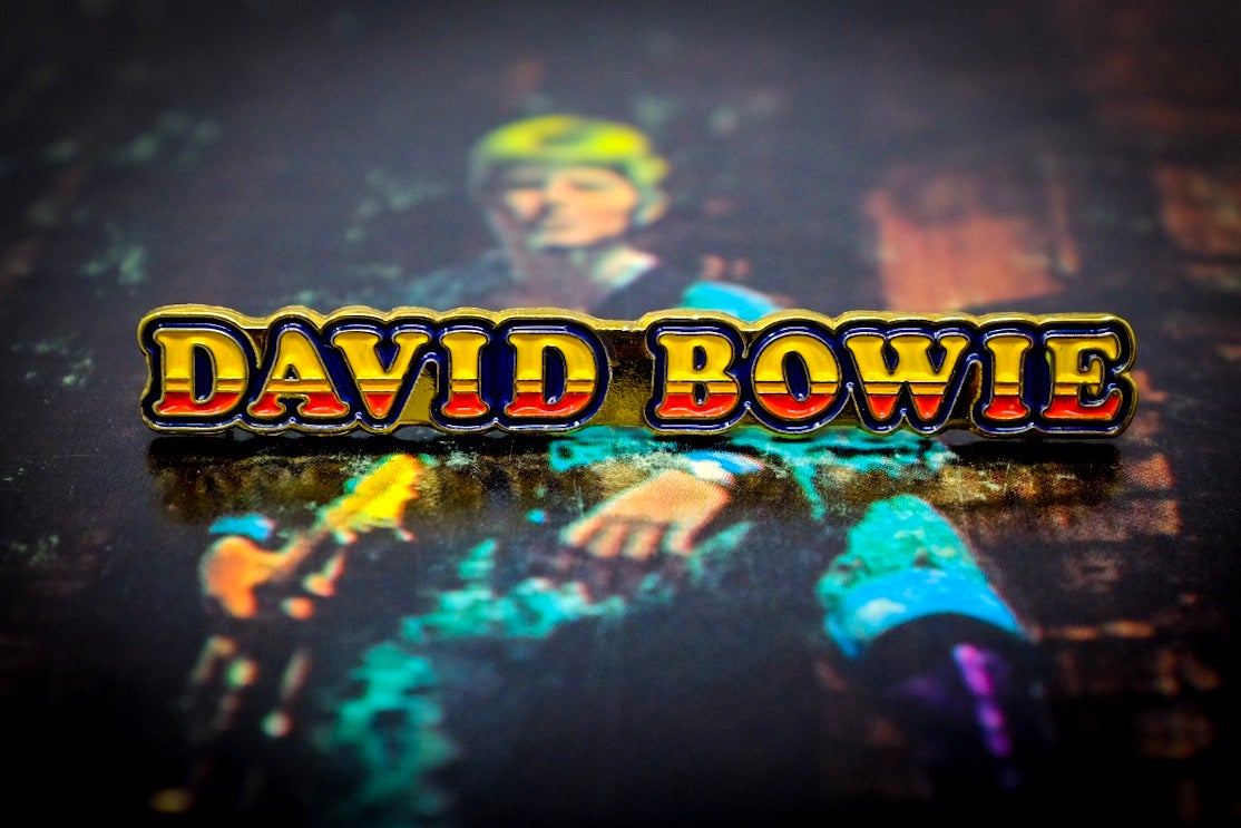 David Bowie Ziggy Stardust Logo Rockin Pins