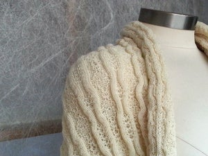 Image of Wool Rib and Diamond Tuck - Providence - Classic Cream (by the half yard)