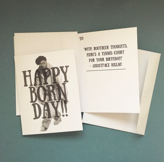 Image of Ghostface Killah Birthday Card! (1x or 5x)