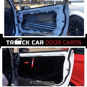 Image of Ford Fiesta mk7 - Perpsex Window Setup - Track Car Door Cards