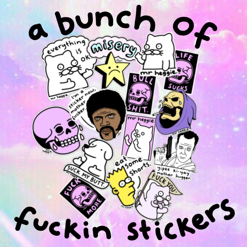 Image of The bunch of fuckin stickers set