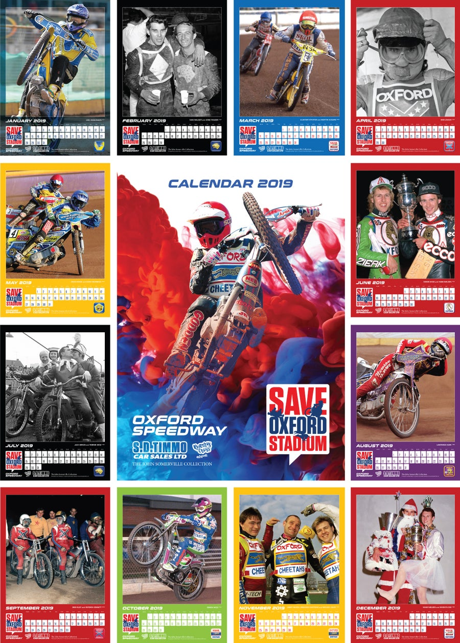 Image of Save Oxford Stadium Calendar 2019