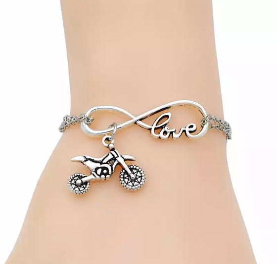 Image of Chain Infinity Dirt Bike Bracelet