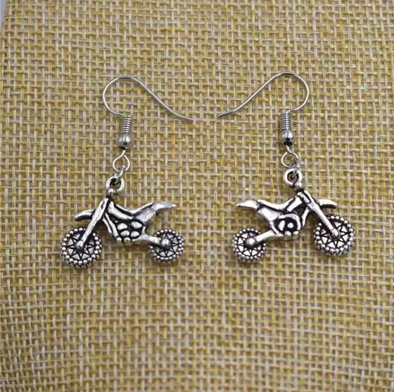 Image of Dirt Bike Drop Earring Set