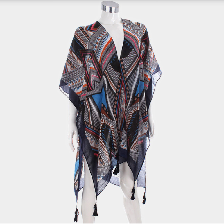 Image of Abstract Tassel Poncho