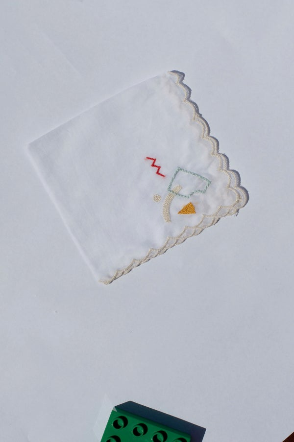 Image of Hand Embroidered Handkerchief