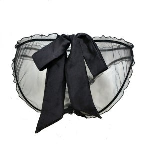 Image of Abeille 'Bee' silk tulle and lace frilly knicker