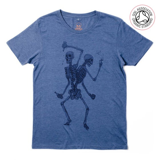 Image of Friends Forever Unisex Denim T-shirt (Organic)