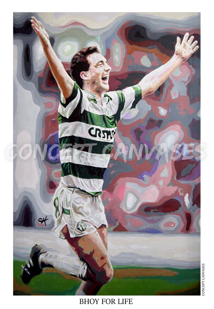 Image of Paul McStay 'Bhoy For Life' A3 Print