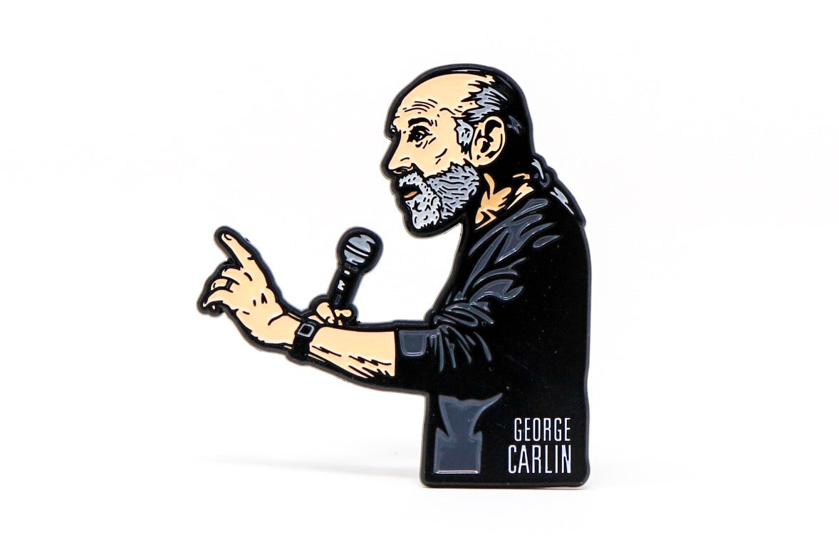 Image of George Carlin 'Jammin' in New York' Enamel Pin