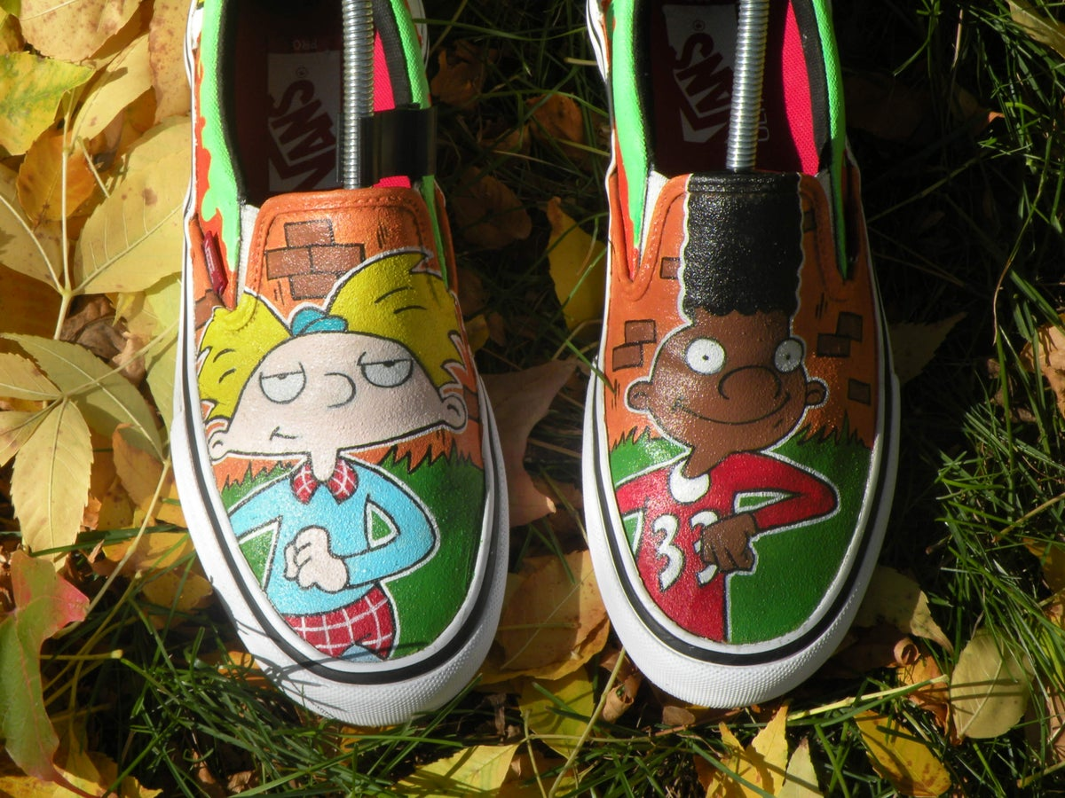 Image of Hey Arnold custom Vans slip on 333d32aae