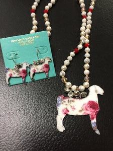 Image of Floral goat set