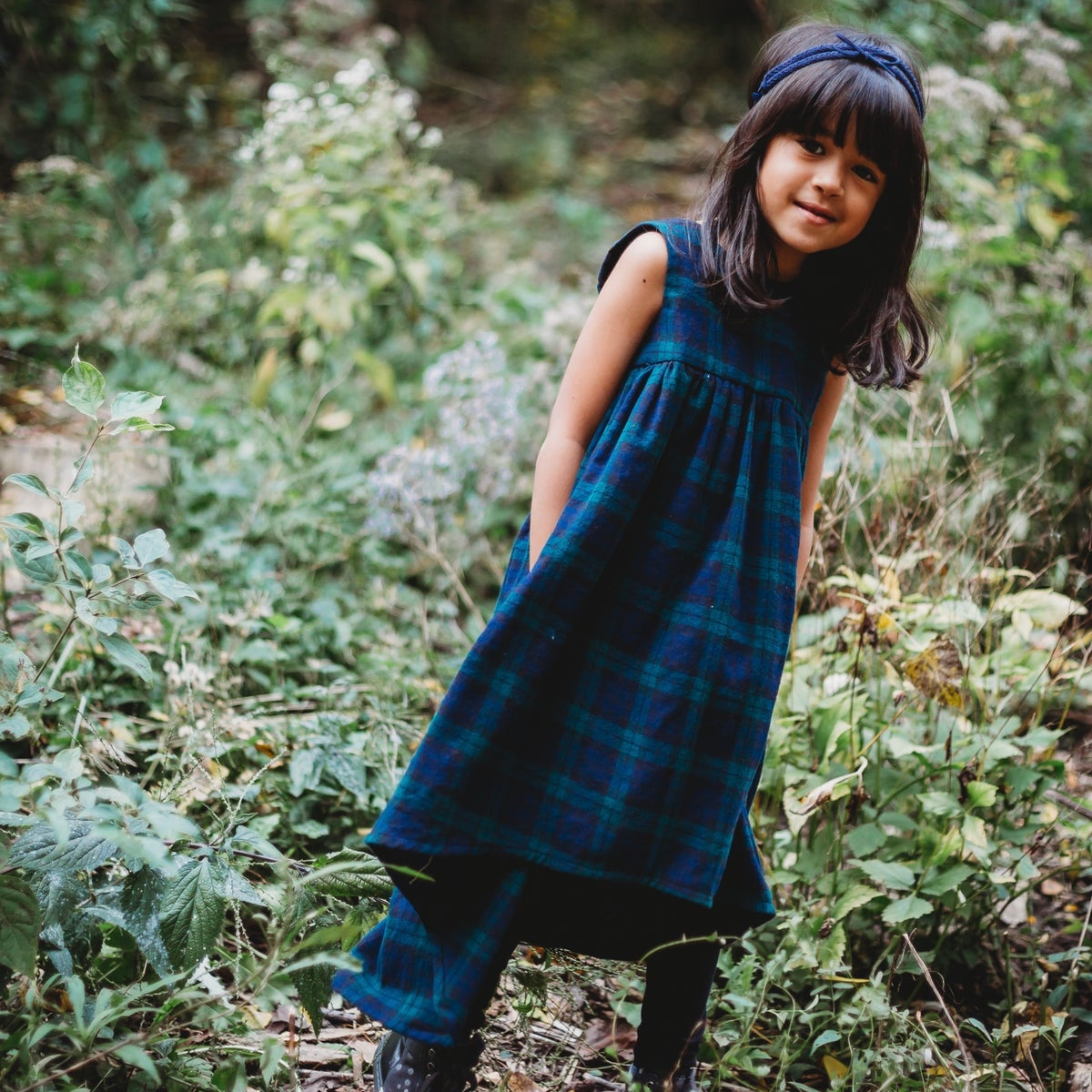Image of Evergreen Plaid Maxi Dress