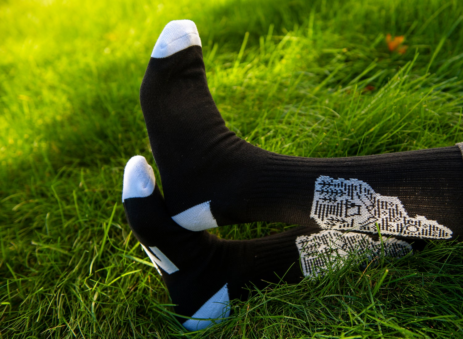 Image of Black Camping Logo Socks