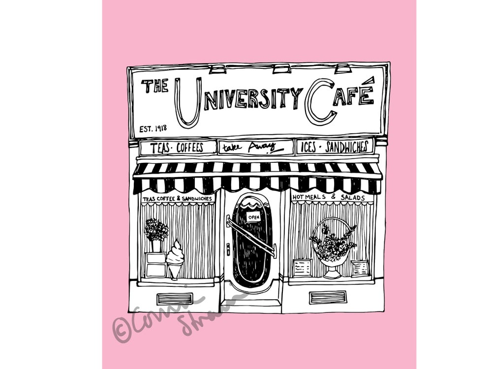 Image of University Cafe Print