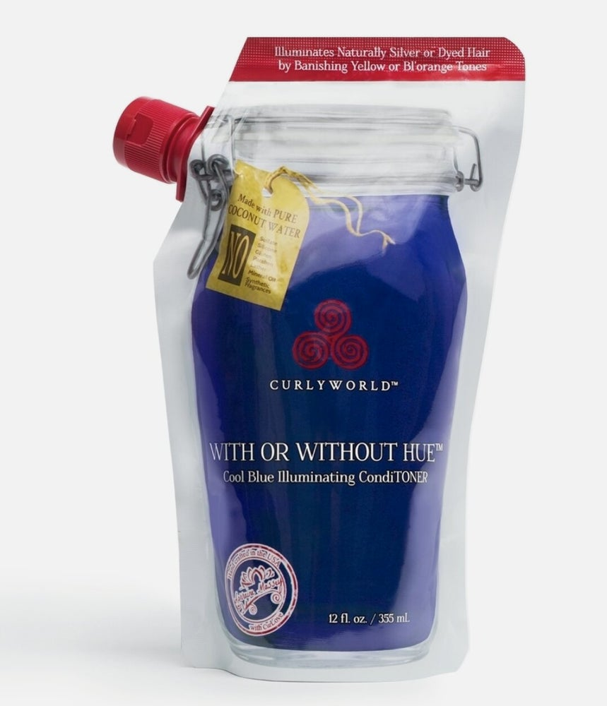 CurlyWorld With or Without Hue Cool Blue Toning Conditioner | 355ml