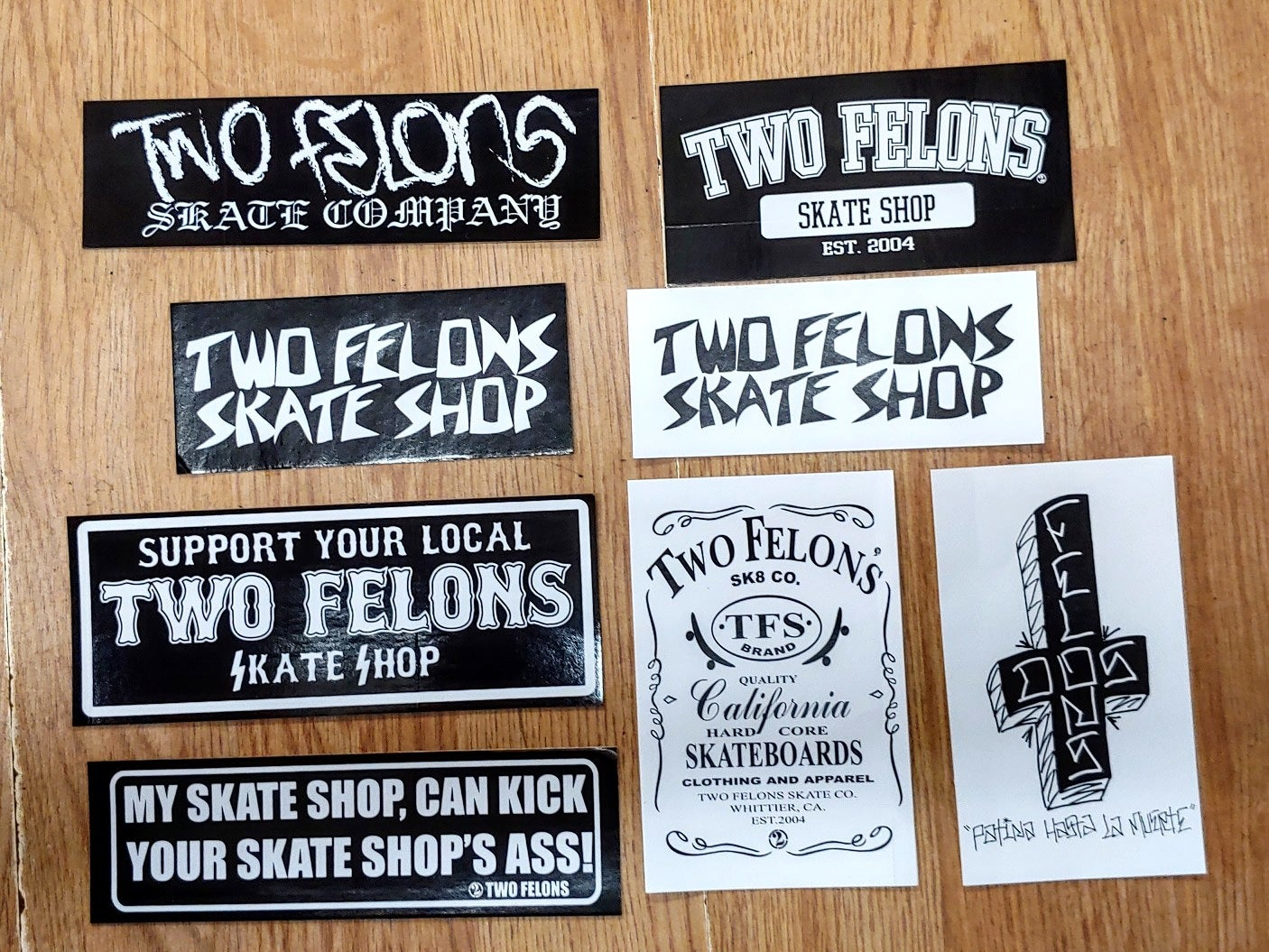 Image of Two Felons Sticker pack