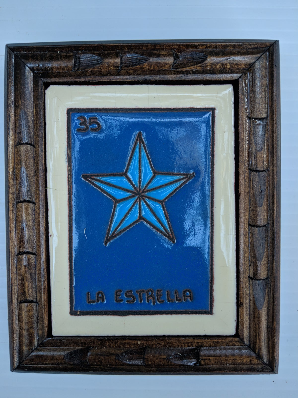 Image of La Estrella Loteria Wooden Framed Coaster
