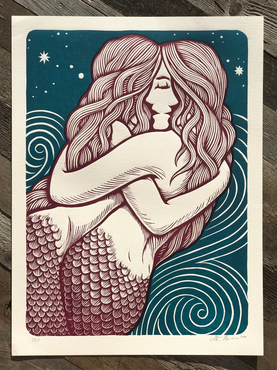 Image of Closeness - Wine colored Mermaids