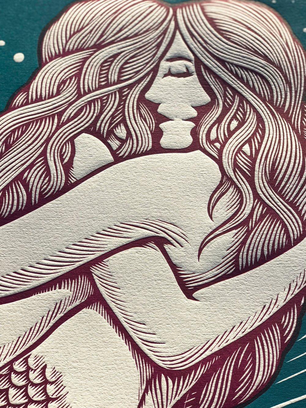 Closeness - Wine colored Mermaids