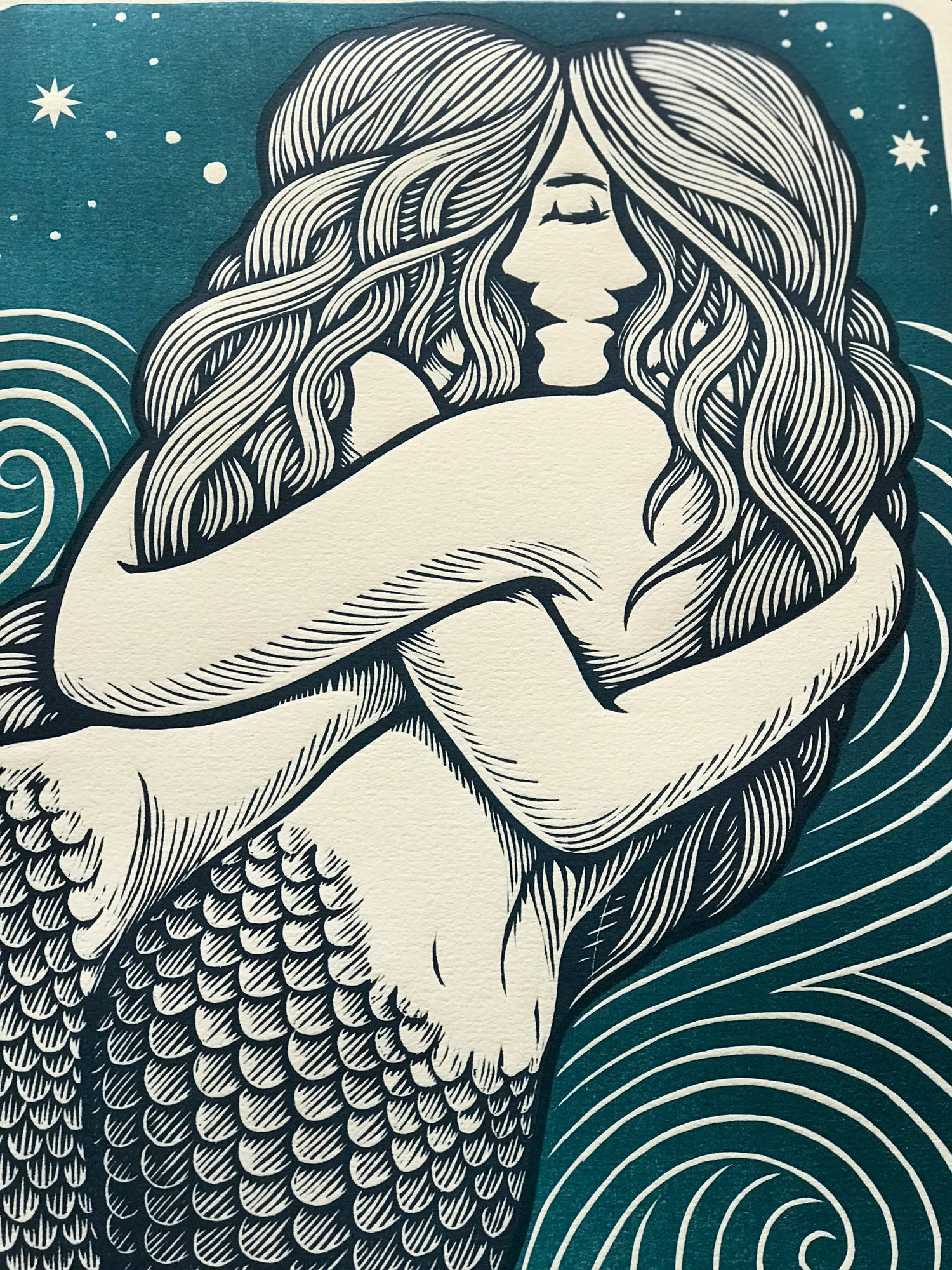 Image of Closeness - Blue Mermaids