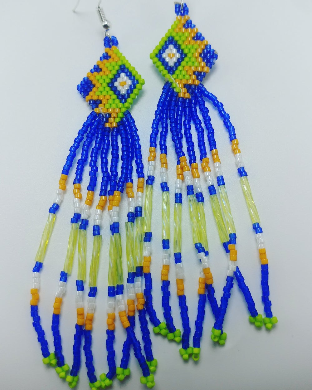 Image of Brick stich earrings