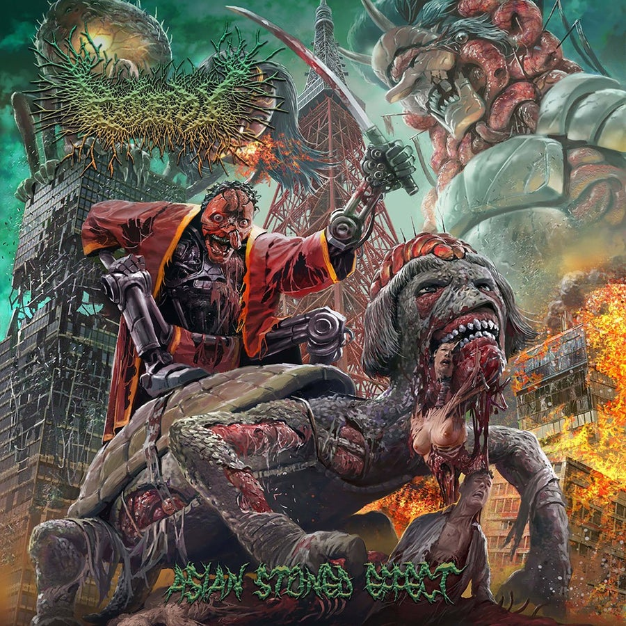 "Image of Official Gorepot 7th album ""Asian Stoned Effect"" Released by Brutal Mind!!"