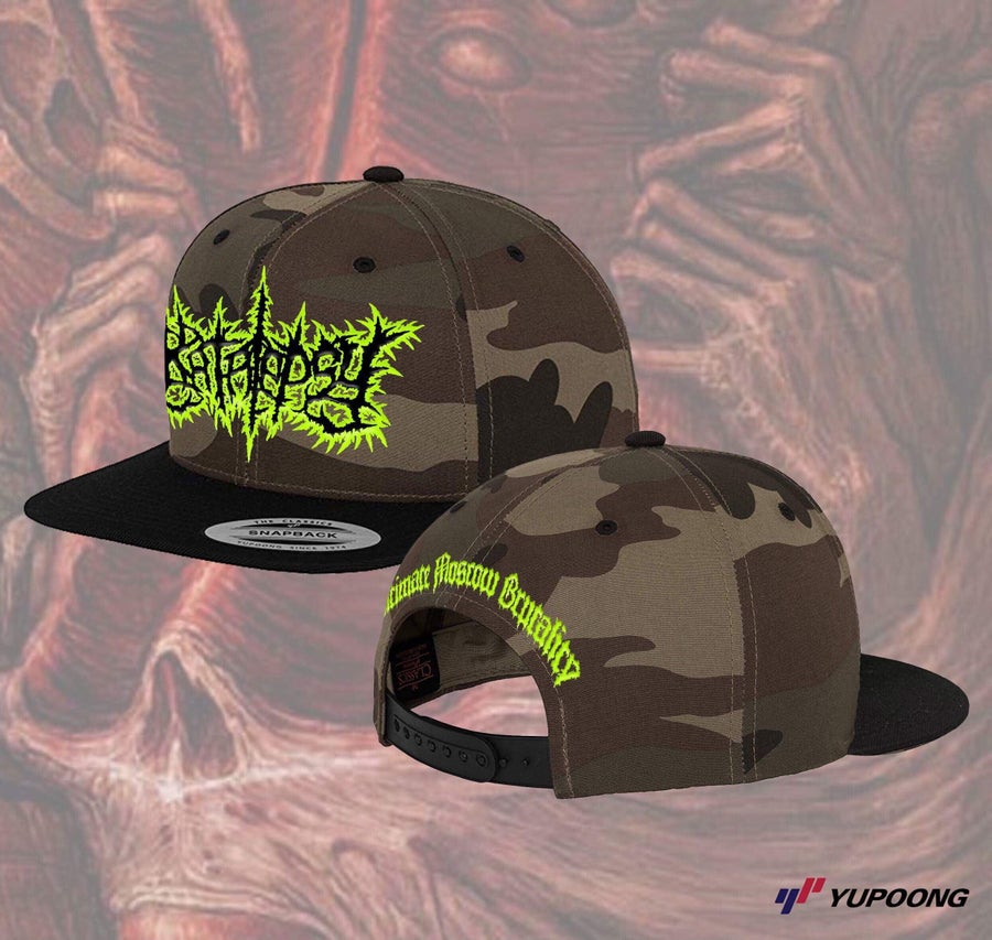 Image of Officially Licensed Katalepsy Yupoong Camo Black Brim snapback!!