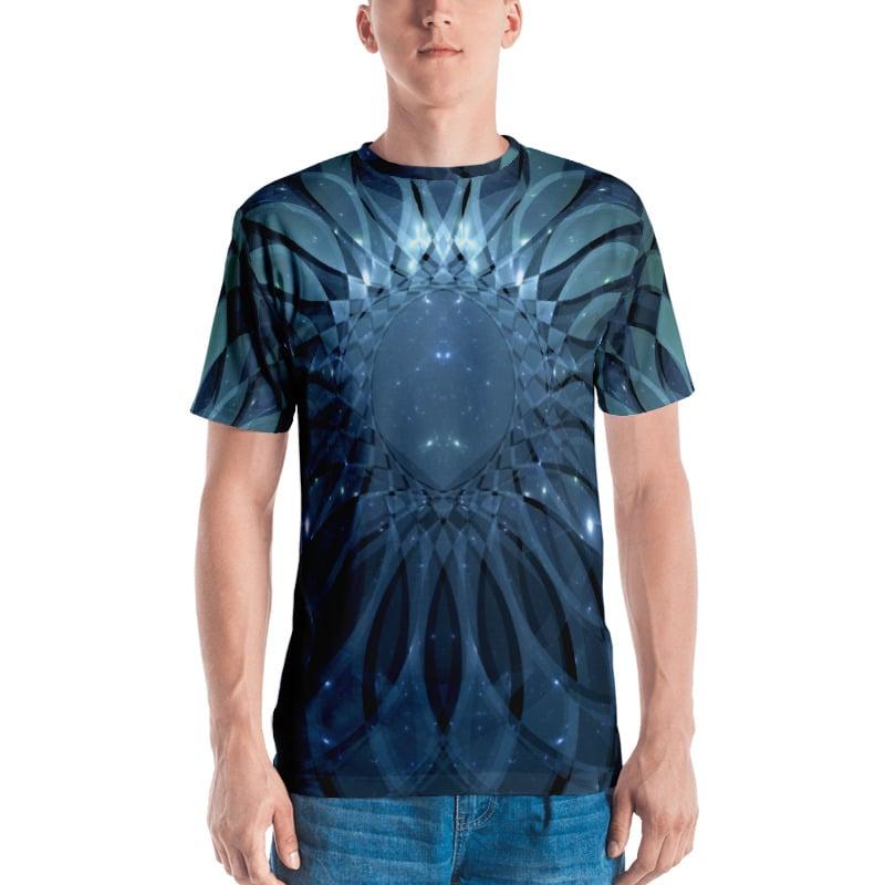 """Image of Fractal Art T-Shirt """"Lotus"""""""