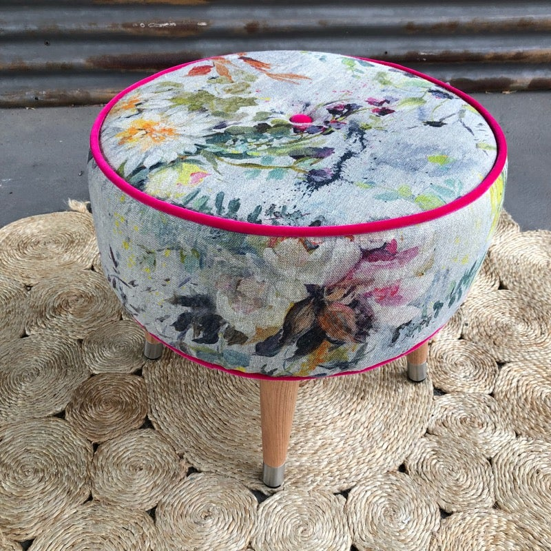 Image of Aubriet Glass top side table / Footstool