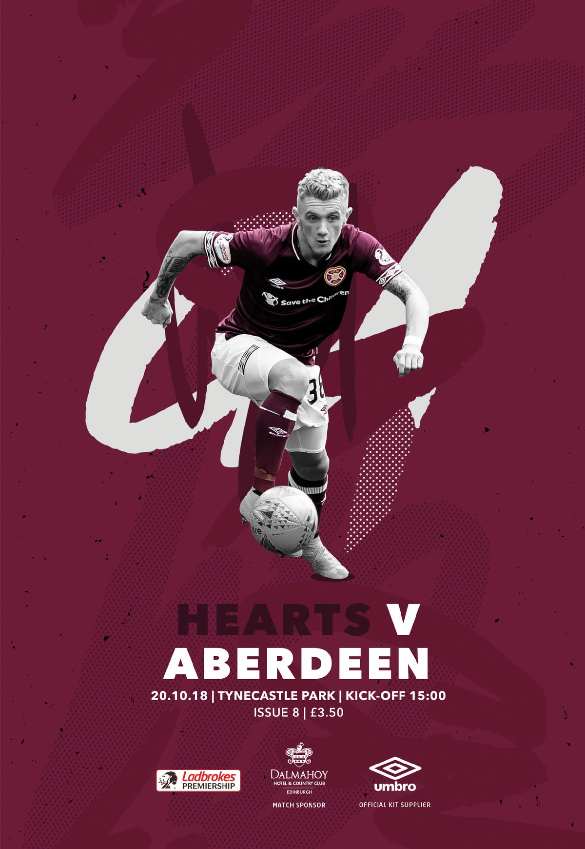 Image of Hearts v Aberdeen, 20th October 2018