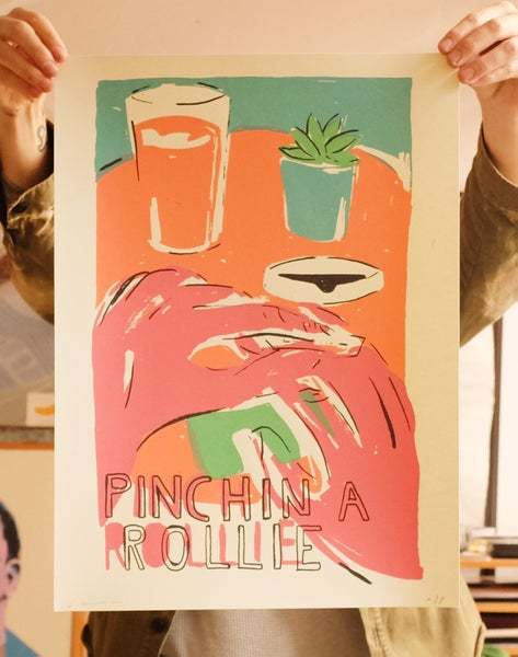 Image of 'Pinchin' A Rollie' Print