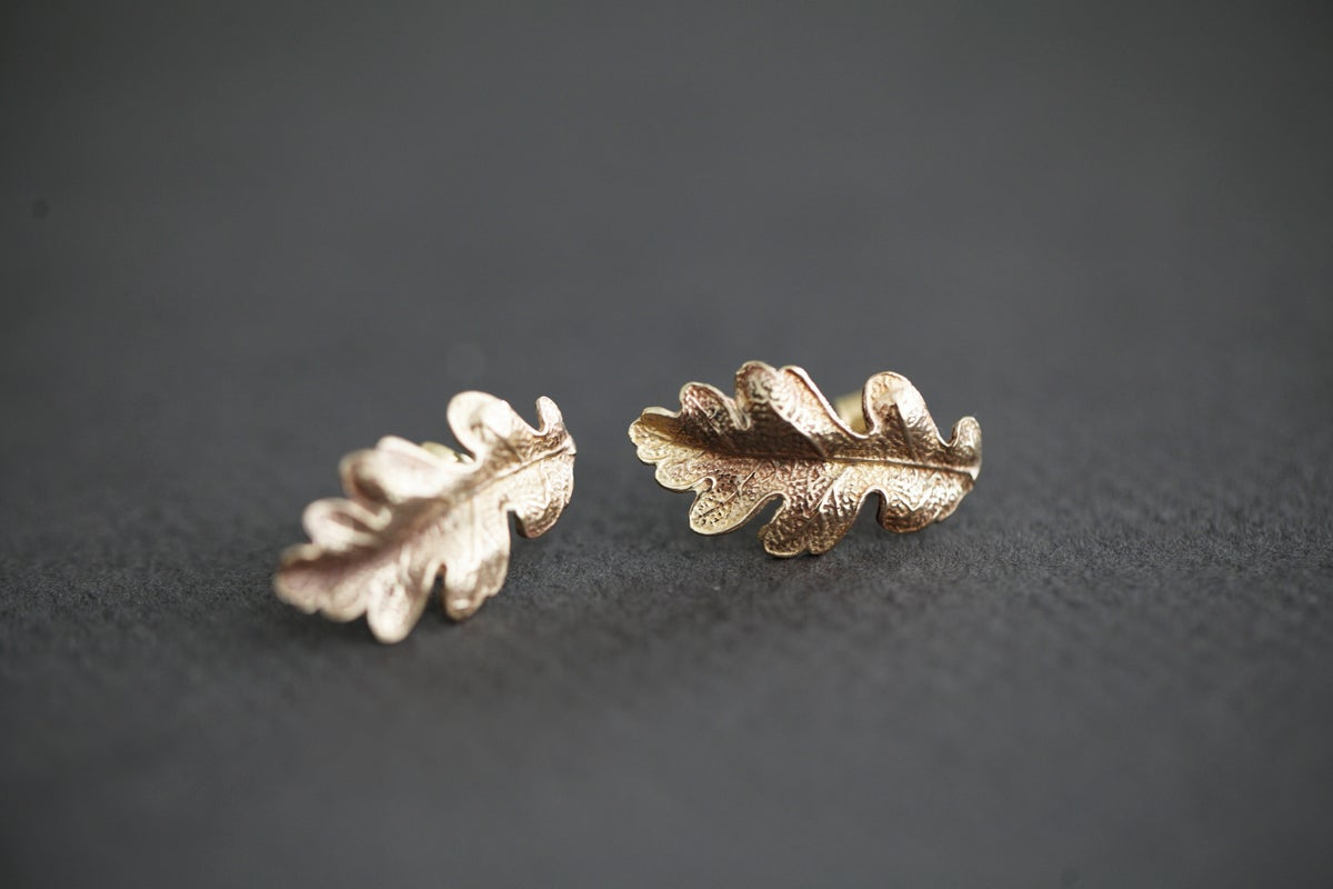 Image of Oak leaf stud earrings (options available)