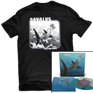 Image of Squalus & Shadow Limb - Mass and Power LP (Half & Half+Splatter) + Shirt Package (Pre-order)