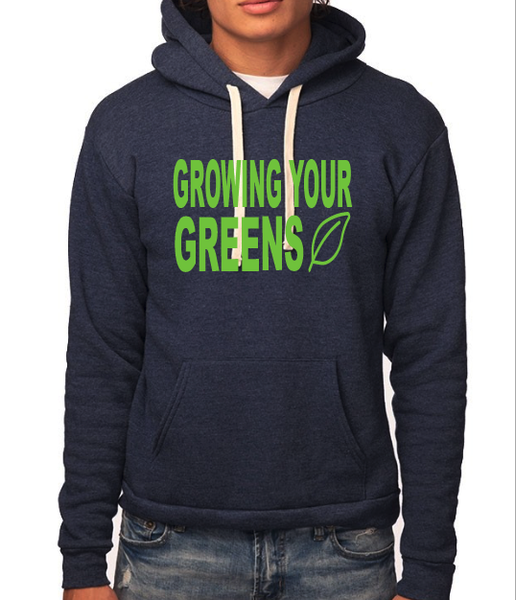 Image of Growing Your Greens Unisex Organic RPET Fleece Pullover Hoody