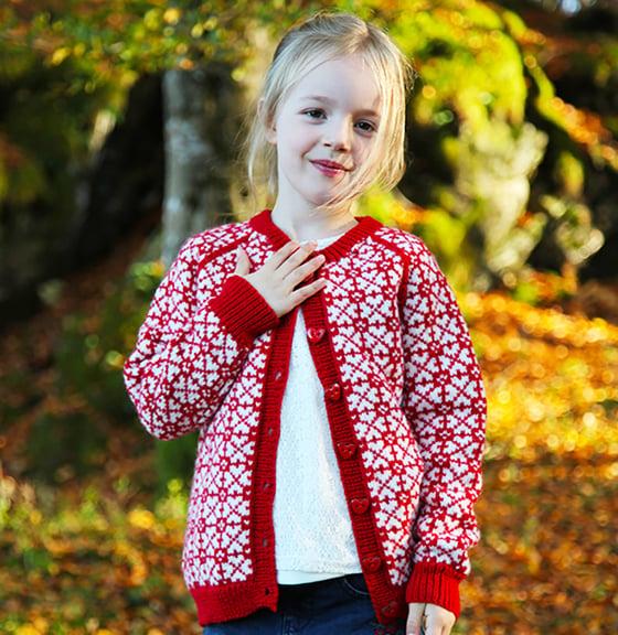 Image of NYHET! Lykkejakke - barn str. 7-8 år - digital oppskrift