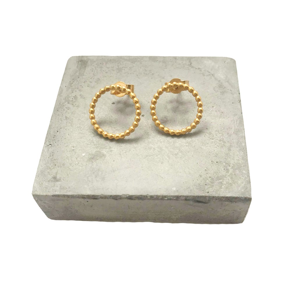 Image of Large beaded circle studs