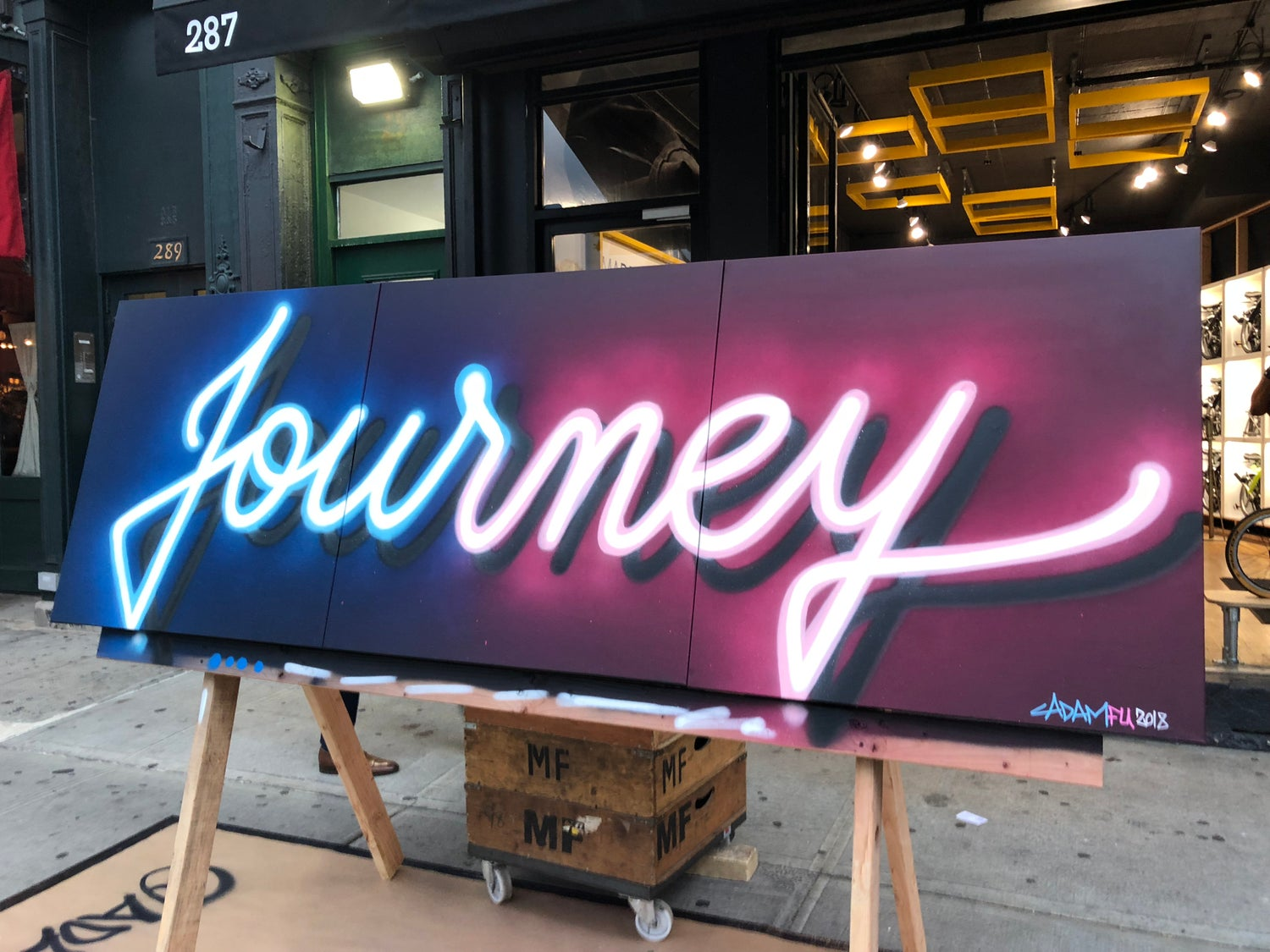 Image of Journey canvas with Brompton Bikes