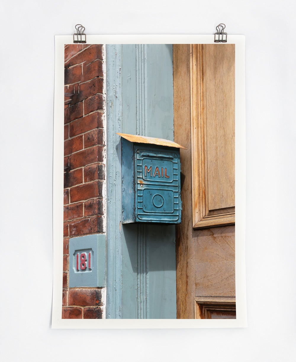 Image of Teal Mailbox