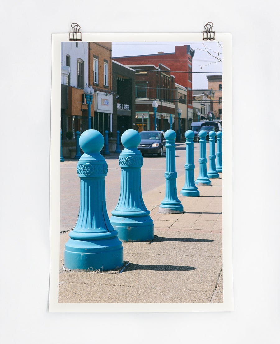 Image of Blue Poles