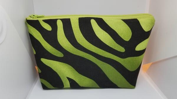 Image of Green /Black make up bag